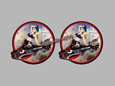 PINUP SEXY MISS BOMB VINTAGE GARAGE CUSTOM 95MM AUTOCOLLANT/STICKERS AUTO MOTO