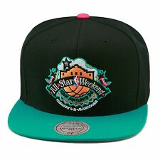 Mitchell   Ness All Star WEEKEND  96 At San Antonio Snapback Hat  BLACK TURQUOISE 265bb83b5b0