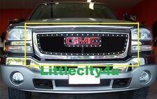 For 03~06 GMC Sierra 1500 2500 Black Wire Mesh Rivet Stud Grille Grill Insert