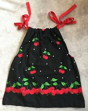 HANDMADE 🍒 Cherries Size 1 Pinafore Style Dress Gorgeous EUC+. Combined Post