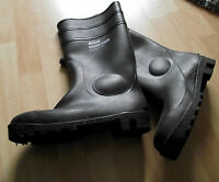 Arco Essentials Black Steel Toe Cap Wellington Boots Wellies UK Size 8  Eur 42