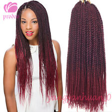 22'' 6 pack Kanekalon Twist Crochet Braids Synthetic Hair Extensions Senegalese