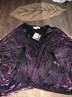 BADGLEY MISCHKA American Glamour 1X 2X Velvet 2pc Pants And Topper New W / Tags