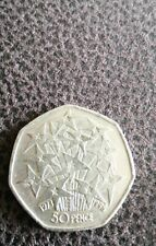 50p UK In EEC 25 Years 1998 EU Stars Fireworks Fifty Pence Coin Circulated
