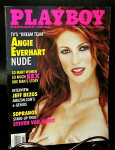 February 2000 Playboy Angie Everhart, Cover : Susanne Stokes, Centerfold