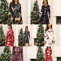 A Line Dresses Cocktail Evening Floral Winter Christmas Dress Long Sleeve Party