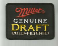 Miller Genuine Draft Gold Filtered Beer patch.3 X 4 #5035