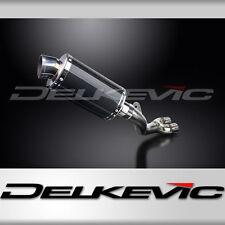 """Honda CBR1000RR de-cat 9"""" Carbon Oval Muffler Exhaust 08 09 10 11 12 13 14 15"""