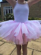 Ballet Tutu Ballerina Homemade Pink White Fairy Costume Princess Dance
