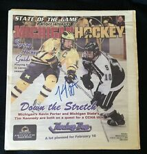Kevin Porter Signed Michigan Hockey Magazine Wolverines