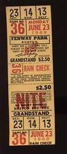 6-23 1969 Boston Red Sox Fenway Park Full Ticket EXMT