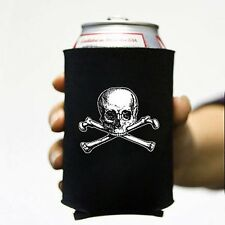 Old Skull and Bones Pirate Beer Pop Soda Can Koozie Koolie Cooler Insulator