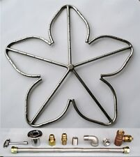 """24"""" Stainless Steel Penta Fire Pit Ring Burner w/ Connector Kit (NG Natural Gas)"""