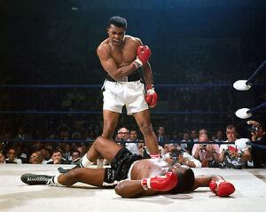 1965 Title Fight MUHAMMAD ALI vs SONNY LISTON Glossy 8x10 Boxing Photo Print