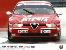 Alfa Romeo 156 Selenia  Touring Car ETCC Winner Official Photograph 2001