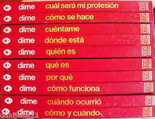 Lote 10 Tomos de la serie Dime/ Argos/1981/Distintos autores/Distintas ediciones