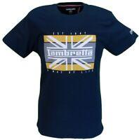 Lambretta Mens Navy Union Jack Retro 100% Cotton T Shirt …