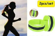 2 Pairs (4) Reflective Bands Running / Cycling Safety Straps Bracelets