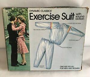 Vintage 1982 Exercise Suit with Sauna Action NOS Sealed Suit Men/Women Booklet