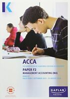 F2 Management Accounting - Exam Kit (Acca Exam Kits) Book The Fast Free Shipping