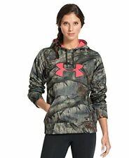 Under Armour Hunting Big Logo Hoodie Women's Size Medium Mossy Oak Treestand New