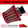 16mm AIR OIL CRANK CASE BREATHER FILTER MOTORCYCLE QUAD CAR RED CONE
