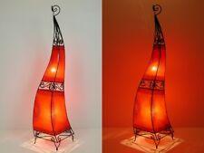 Orientalische Hennalampe Rot Marokkanische Lederlampe  Lederleuchte Ibis120cm