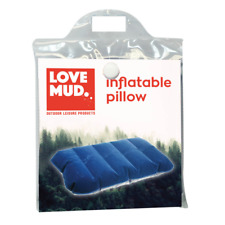 TRAVEL INFLATABLE PILLOW CAMPING HIKING CUSHION BLOW UP FLOCK SPARE SUPPORT UK
