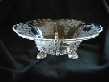 Vintage  Etched Glass Bowl - Meadow Wreath Pattern - New Martinsville