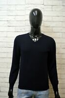 FAY Uomo Pullover Blu Taglia S Cardigan Maglione Maglia Lana Sweater Man Wool