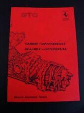 Ferrari 288 Transaxle Gearbox Differential Workshop Manual Repair Book GTO OEM