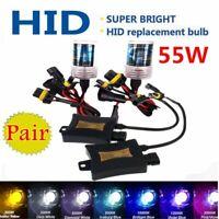 55W Xenon Headlight HID Conversion KIT Bulbs H1 H3 H4 H7 H11 9005 9006 880/881
