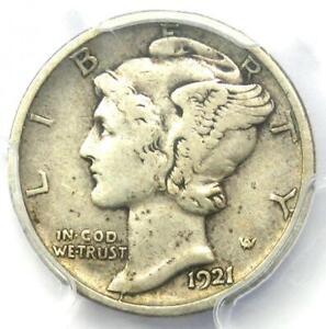 1921-D Mercury Dime 10C Coin - Certified PCGS VF30 - Rare Key Date!