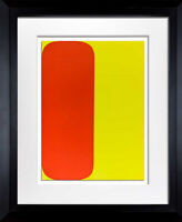 Ellsworth KELLY Lithograph ORIGINAL Red/Yellow 1964 LIMITED Ed. w/Custom Frame