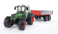 Tractor Fendt 209 S with trailer Bruder Toy Car Model 1/16 1:16