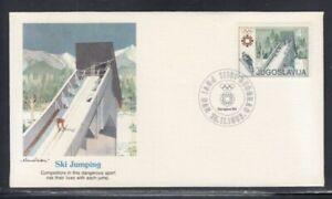 YUGOSLAVIA XIV Sarajevo Winter Olympics (Ski Jumping) FIRST DAY COVER
