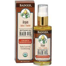 BADGER ORGANIC ARGAN HAIR OIL FOR DRY & DAMAGED HAIR -