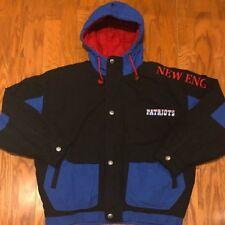 Excellent Condition Vintage Mirage  New England Patriots Full Zip Parka sz XL