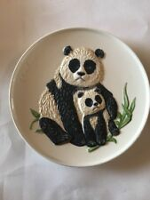 Vintage Goebel Mothers Series 3rd Edition Plate 1977 Panda Bear & Baby Third