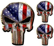 3x- The Punisher Skull American Flag /diecut Vinyl-Decal-Sticker /Marvel Comics