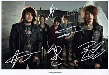 ASKING ALEXANDRIA AUTOGRAPHED SIGNED A4 PP POSTER PHOTO