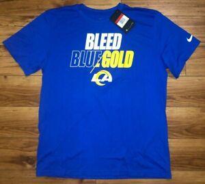 Mens Nike NFL Los Angeles Rams Dri-Fit Football Shirt Blue NWT