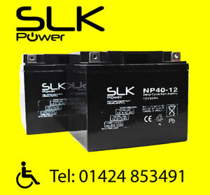 (2.) PAIR 12v 12 17 24 33 36 40 50 55 75AH MOBILITY SCOOTER WHEELCHAIR BATTERIES