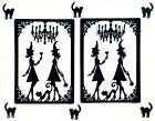 FANCY! WITCH/ WITCHES HALLOWEEN COSTUME PARTY FRAME SILHOUETTE DIE CUT/ CUTS
