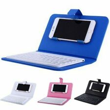 Black Magntic Leather Case for IPhone and Android Phone with Bluetooth Keyboard