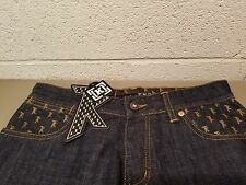 new Krew TKO KR3W signature logo blue denim jeans.