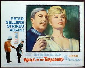 Peter Sellers Dany Robin ORIGINAL 1960s Lobby Card Waltz of the Toreadors