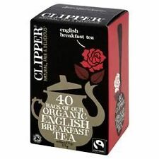 Clipper Tea Bags Fairtrade Organic English Breakfast Tea 40 Bags