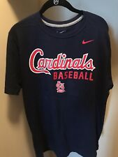 St. Louis Cardinals Nike Mens Size Large Blue Preowned MLB