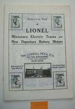 Lionel Reproduction 1911 Catalog, Vagell